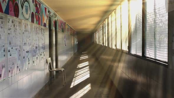 Thumbnail for Corridor of an Empty Public School.