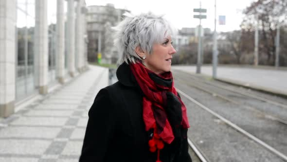 Thumbnail for Middle Aged Woman Lost in City - Urban Street