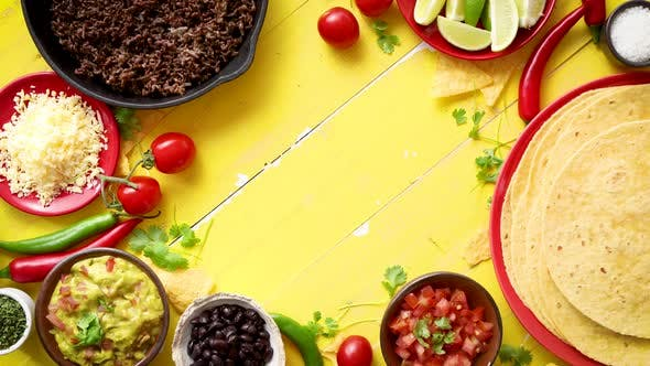 Cover Image for Delicious Chilli Con Carne Ingredients Waiting To Be Prepared