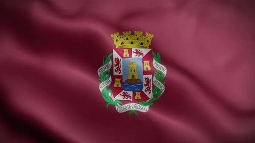 Cartagena Spain Flag Loop Background 4K