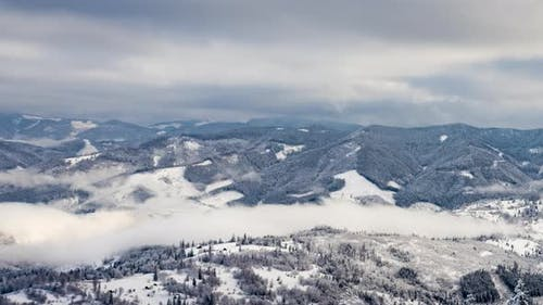 A Strong Winter Snowstorm in Mountains