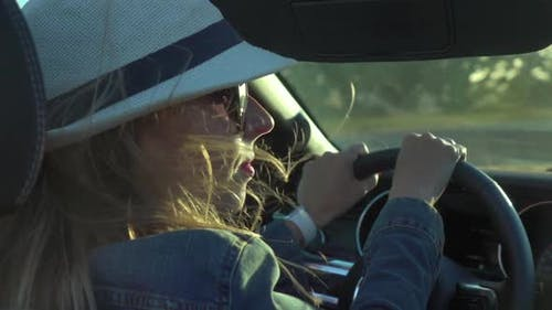 Driving Convertible