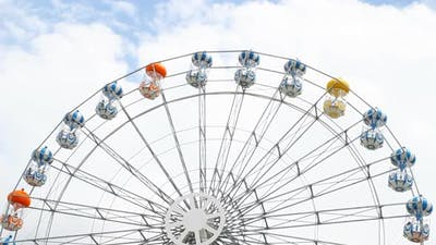 Colorful Ferris Wheel in an amusement park