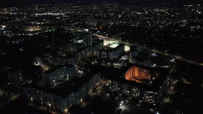 Night Multi Storey City Houses