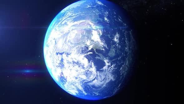 Realistic Earth Zoom United Kingdom