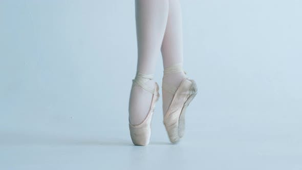 Thumbnail for Ballerina Dancing Ballet, Feet Closeup