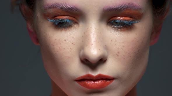 Female Face, Beautiful Artistic Makeup