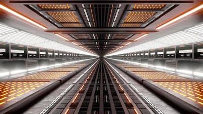 Science fiction architecture interior