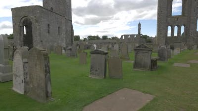 Graves, tombstones and ruins