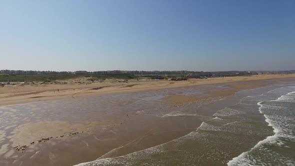 Tides on beach