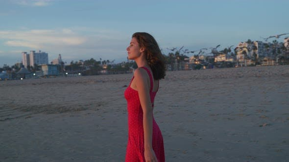 Thumbnail for Girl on Santa Monica beach