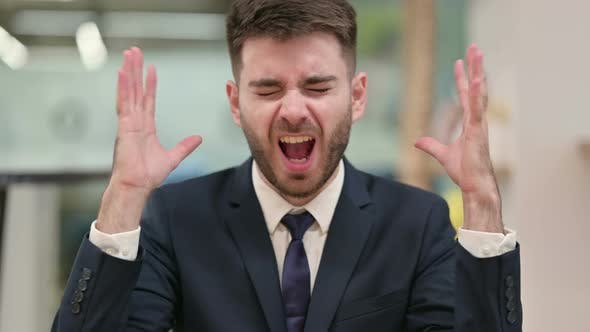Thumbnail for Angry Young Businessman Shouting, Screaming