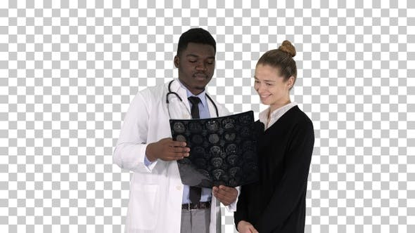 Thumbnail for Young Woman Visiting Radiologist for X-Ray, Alpha Channel