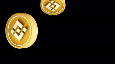 BNB Binance Cryptocurrency Crypto DeFi Coin 3d rendering animation