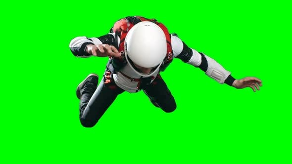 Cover Image for Parachutist in Free Fall Looking Down