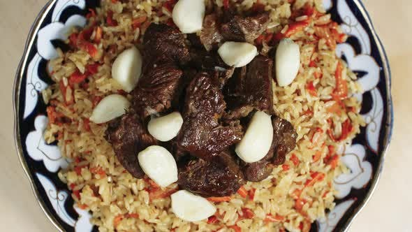 Thumbnail for Delicious Beef Pilaf with Garlic