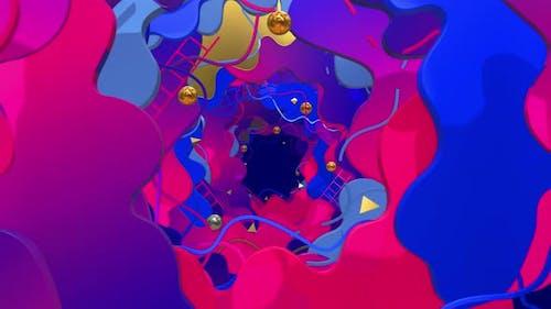 Liquid Style In 3d Geometry 01 4K