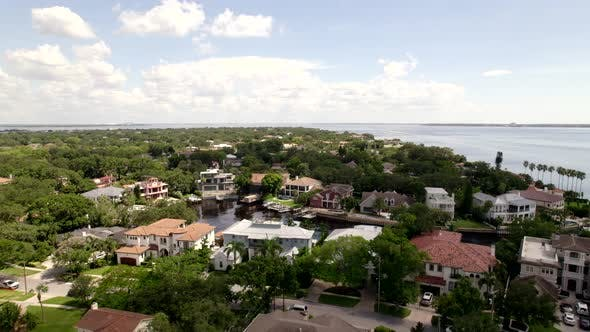 Aerial Video Tour Davis Island Tampa Luxury Waterfront Mansion Homes
