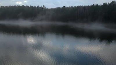Aerial Winter Lake