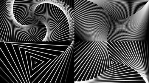 Triangular Design Background Package
