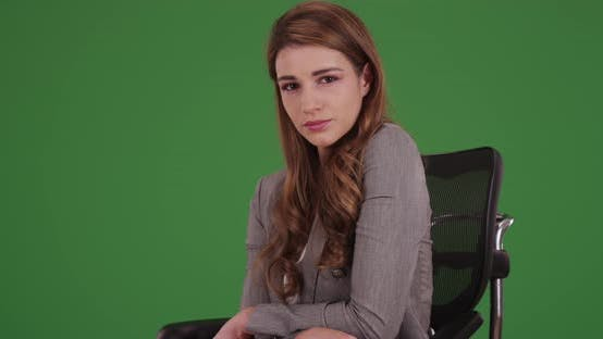 Thumbnail for Portrait of woman in her 20s on green screen