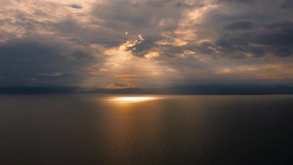 Thumbnail for Cloudy Sky Over the Sea During Sunset.