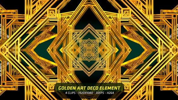 Thumbnail for Golden Art Deco Element 4 in 1