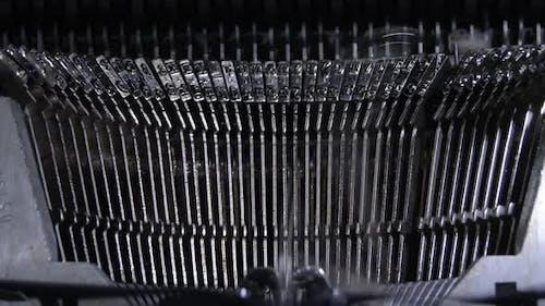 Keys Hitting in a Typewriter