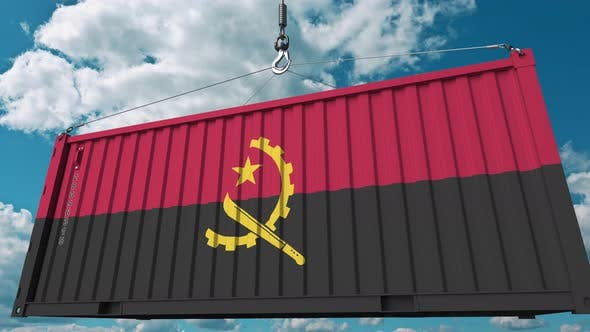 Thumbnail for Frachtcontainer mit Flagge von Angola