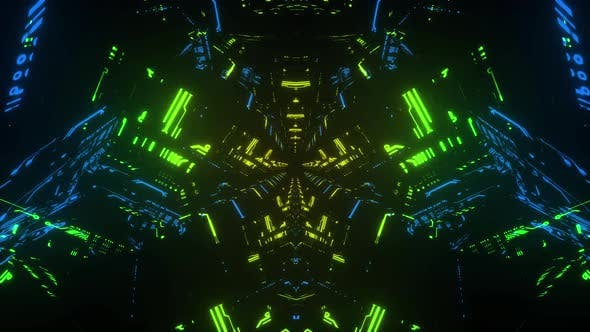 Thumbnail for 4k Colorful Cybernetic Vj Loop 2