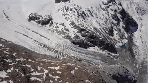 Aerial View of Morteratsch Glacier, Switzerland