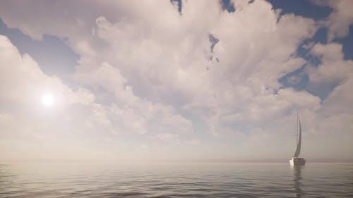Sailboat Adventure Tourism Panoramic View Sea Landscape