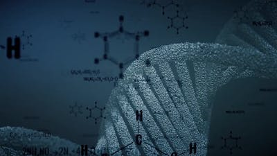 DNA Chain And Chemistry Formulas
