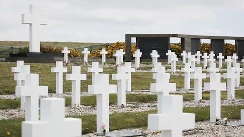 Friedhof Darwin in Malvinas (Argentinischer Militärfriedhof, Falklandinseln).