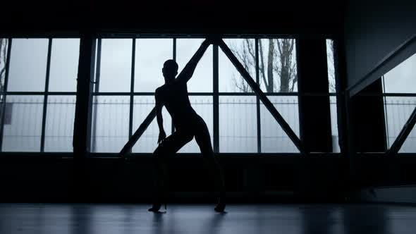 Sexy Dancer Silhouette Training in Class