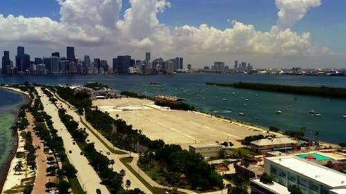 Aerial Video Key Biscayne Miami Color Graded