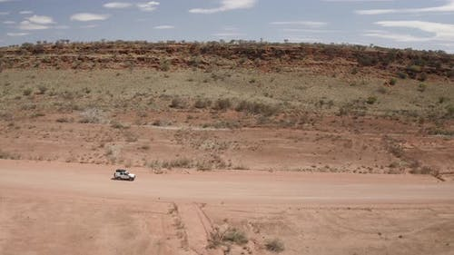 Aerial view of x in the outback.