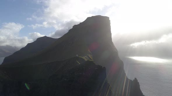 Thumbnail for Drone footage of  the Edge of Kalsoy Island in Faroe islands