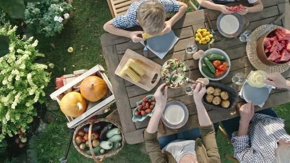 Cover Image for Vegetarian Family Eating Fresh Harvest