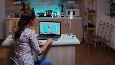 Woman Photo Retoucher Color Grading