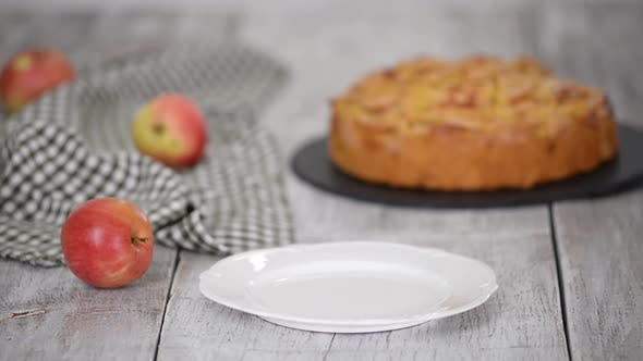 Thumbnail for Piece of Delicious Apple Cake.