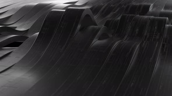Abstract Black Wave