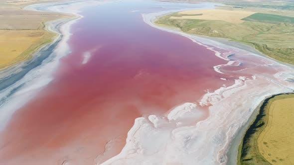 Thumbnail for Unusual pink lake