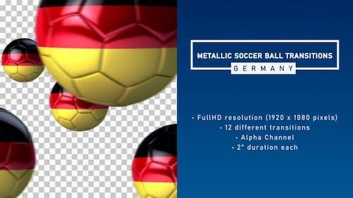Metallic Soccer Ball Transitions - Germany