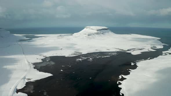Thumbnail for Aerial View of the Snaefellsnes Peninsula at Winter, Iceland.
