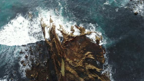 Thumbnail for Wave Breaking on Rocks on Black Side of Atlantic Ocean