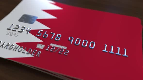 Cover Image for Credit Card with Flag of Bahrain