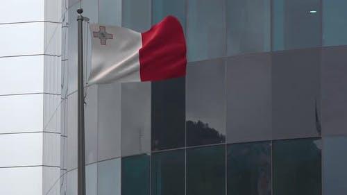 Malta Flag Background 4K
