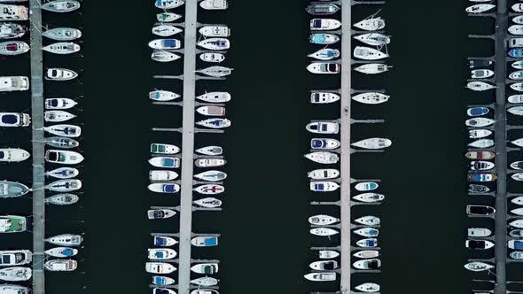 Thumbnail for Sail and Yachting Tourism in Europe From Flying Quadcopter Above the Sea Port