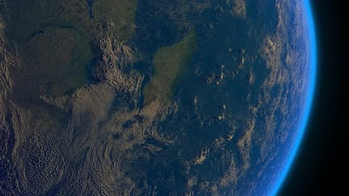 Earth Realistic Clouds Madagascar East Africa